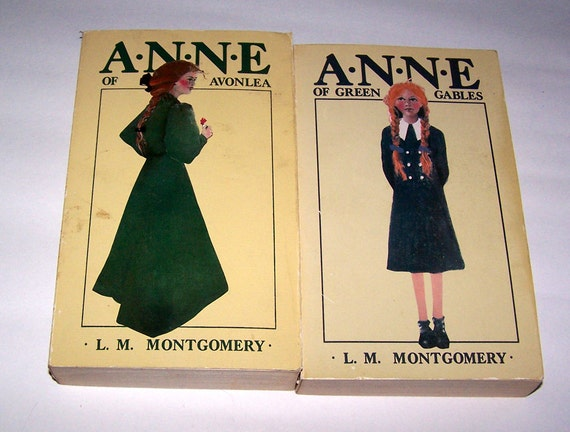 SALE 2 Vintage 1968 Anne of Green Gables and Anne of Avonlea Books