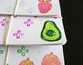 Fresh Produce Recipe Cards\/Postcards--set of 8.