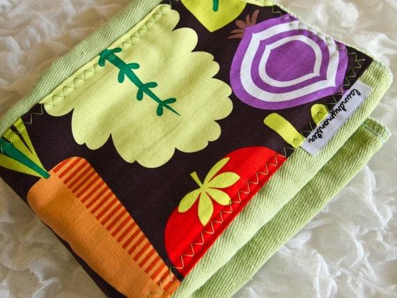 Baby burp cloth - The salad days light green hand dyed burp cloth