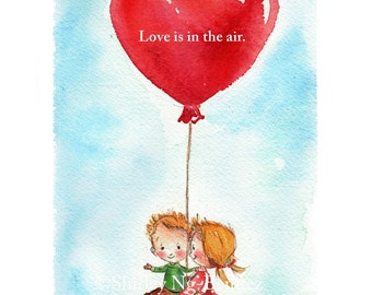 Love is in the air : Limited Edition Print