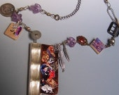 Found Object Collaged Necklace OOAK
