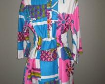 Vintage Tiki Design Hostess Tunic