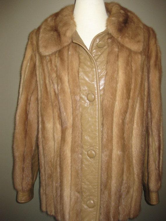 Vintage Blonde Mink Fur and Leather Jacket Imagine as a VEST