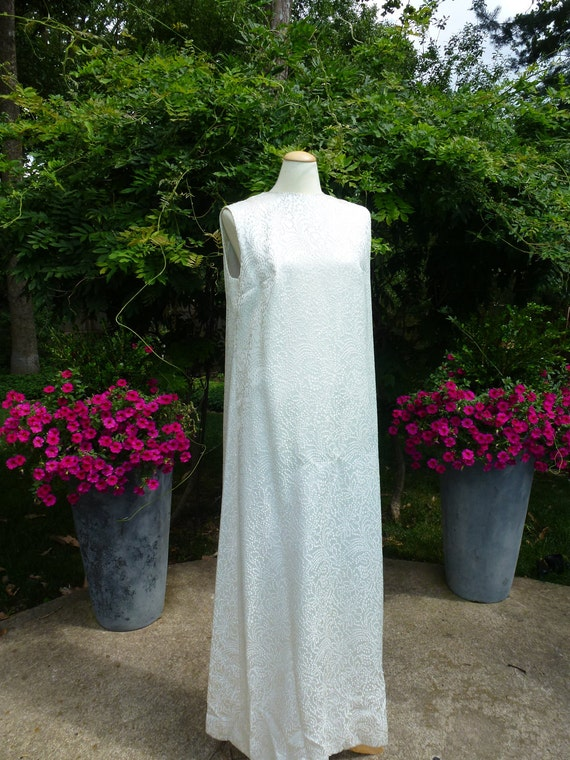 Super Long Silver Evening Gown Size L or XL