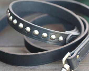Leather Dog Leash // Sturdy Leather Leash // Dog Leash // Latigo Leather Dog Leash // Jeweled Dog Leash // Dog Leash With Studs