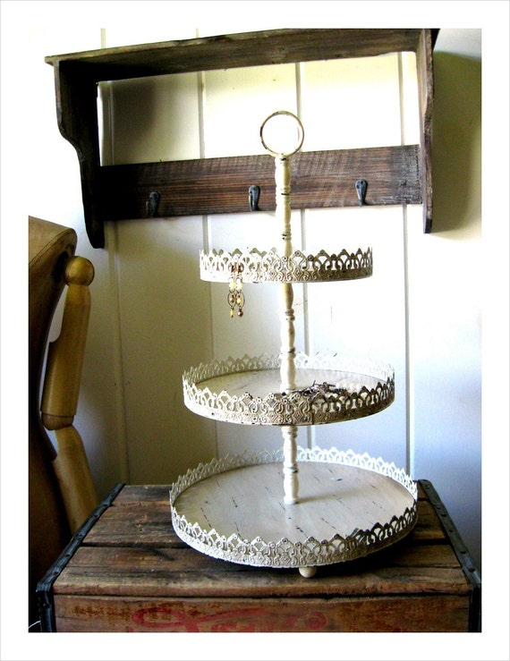 delia 3 tier tray display stand rack great for earrings