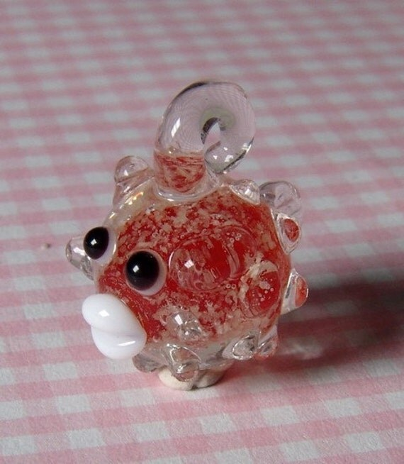 1 Pc Cute Porcupine Japanese Puffer Fish Glass By