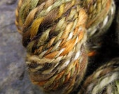Handspun yarn, handpainted thick and thin hand dyed 2 ply  BFL wool yarn, multiple skeins available-THE BURROW