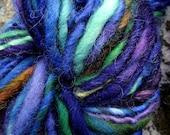 Handspun yarn, handpainted yarn, Merino wool  thick and thin bulky yarn, last one available-SESAME STREET