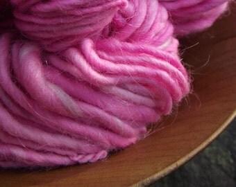 Handspun yarn, handpainted Merino wool yarn, thick and thin, -COTTON CANDY