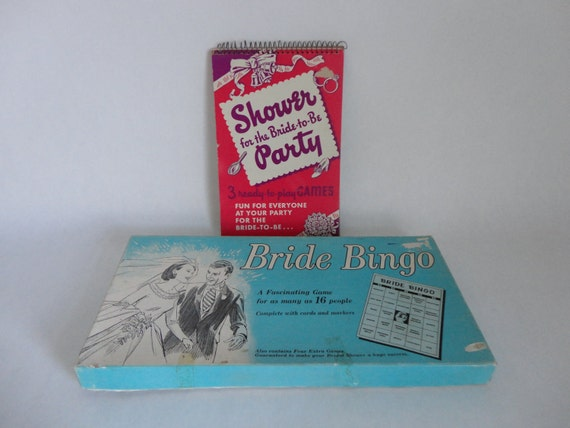 for the bride-to-be...VINTAGE bridal BINGO game and bridal shower GAME book