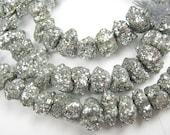 Pyrite Gemstone. Large Nuggets, AB,  8-9mm.  Semi Precious Gemstones.   Packet of 7 ...  (5PYAB) Last Ones