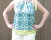 Madison Top Sweet Halter Style Shirt Tunic. Womens.