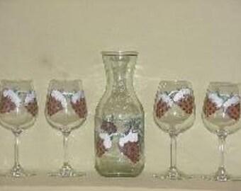 Pinecone wine set