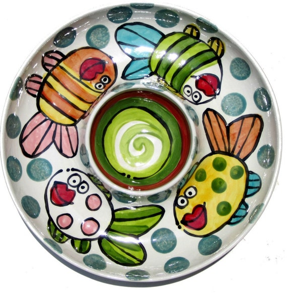 custom chip and dip serving dish personalized story by