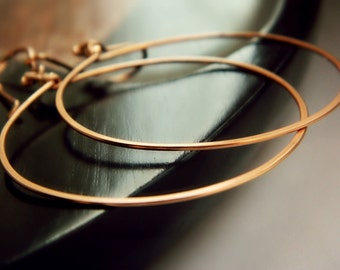 Copper Hoops - Small / Handmade