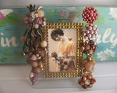 Autumn Vintage Jeweled Picture Frame - Beautiful Colors