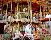 Double Decker Carnival Carousel Ride Fine Art Print- Carnival Art, County Fair, Nursery Decor, HomeDecor, Children, Baby, Kids