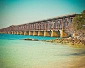 Beach Rail Bridge Key West Fine Art Print