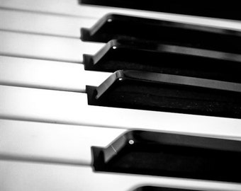 Black & White Piano Keys Fine Art Print