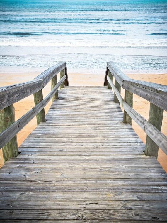 Beach Walkway to Ocean Fine Art Print