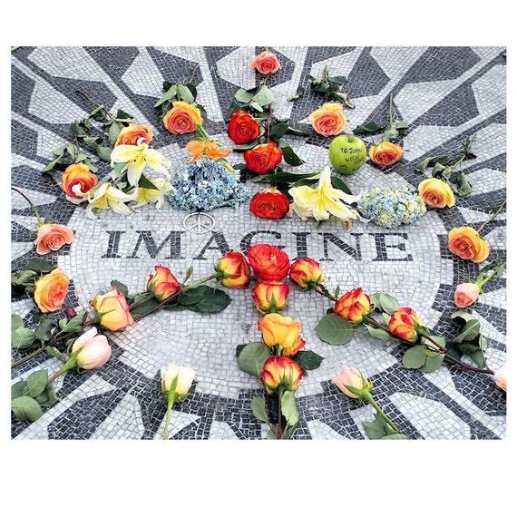 Image Memorial to John Lennon Beatles Fine Art Print