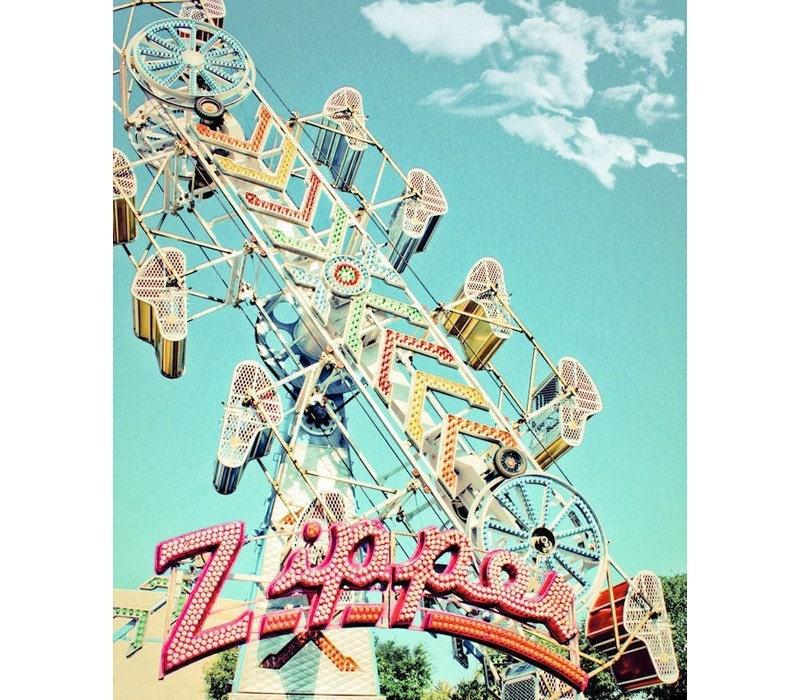 The Zipper Carnival Ride Fine Art Print or by ...