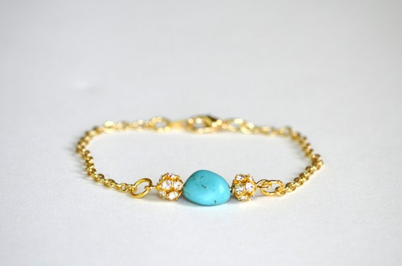 Turquoise Nugget Bracelet - Simple Couture