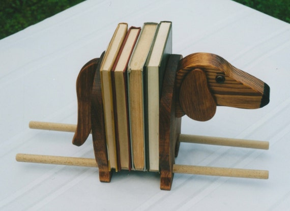 Dachshund book ends handcrafted