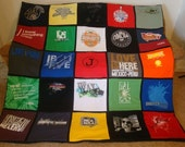 Custom T Shirt Memory Blanket - Unlimited Items & Size with Border