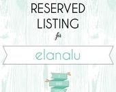 RESERVED LISTING for elanalu