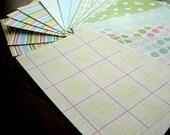 20 sheets 4 x 6 paper Pastels