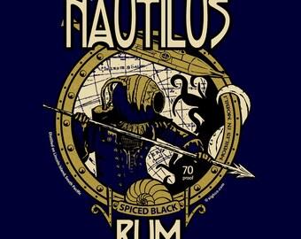 Captain Nemo's Nautilus Rum t-shirt, sizes S-4XL
