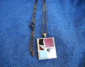 Stained Glass and Tile Mosaic  Necklace