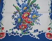 Sweet Blue Bleeding Hearts Vintage Kitchen Towel-Treasury Pick