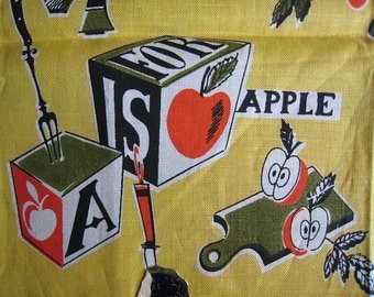 Vintage Kitchen Towel-A is For Apple