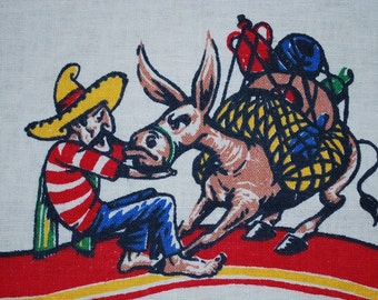 Vintage South of the Border Kitchen Towel