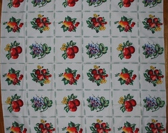 Vintage Fruity Kitchen Tablecloth - circa 1950s UNUSED AND MWT