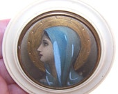 Charming C.1920 FRENCH Celluloid CRIB PROTECTOR or PENDANT...