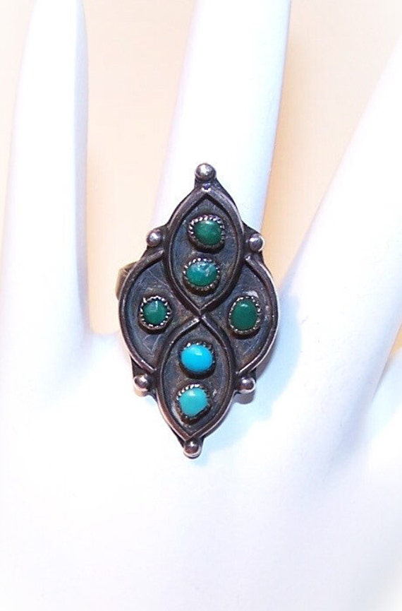 Vintage Native American/Southwest STERLING SILVER & Turquoise Ring