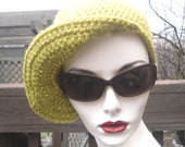 earth  toned pea green cashmere blend unisex funky style baseball brimmed hat