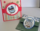 Gift Card Holder Handmade Cards - set of 2