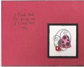 Inspirational ladybug hand stamped card
