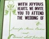 Sample Art Nouveau Invitation