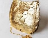 Gorgeous Gold leather evening bag