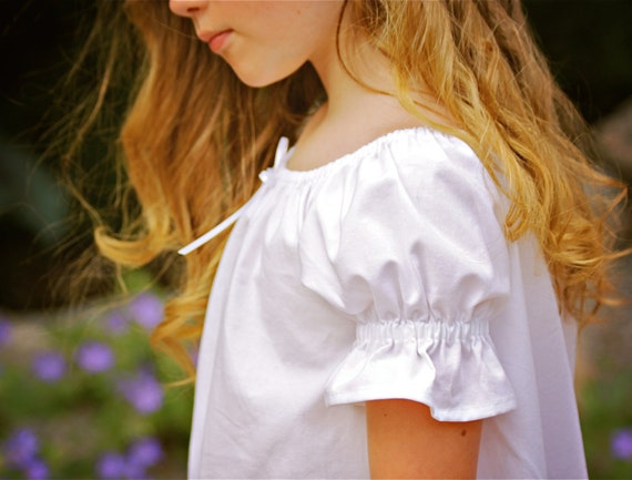 Custom White Old-Fashioned Night Gown  Girls sizes 2-8