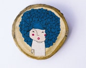 wood collection - Mss. blue hair