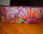 Quilted Bag with zipper - Cosmetic, Sewing, or Organizer - Kaffee Fassett Fabric
