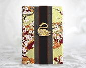 Birthday Calendar Book Dates to Remember Keepsake Zen Asian Swan Flower Garden Woodland Copper Mustard Golden Perpetual Anniversary Book