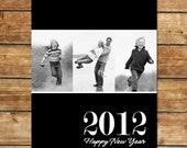 Simply NEW YEAR...Custom Holiday or New Year Card...by KM Thomas Designs